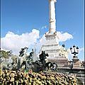 Bordeaux - variations autour du monument des girondins