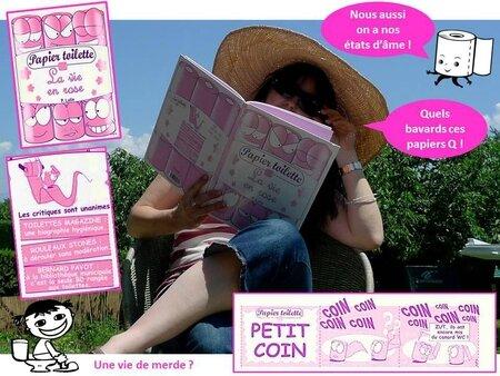 blog papier toilette BD la vie en rose PQ pq papier Q bande dessinée