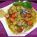 Ragoût de pommes de terre aux saucisses