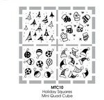 Mini wood set STAMPENDOUS Holidays squares (Ref: MTC10)