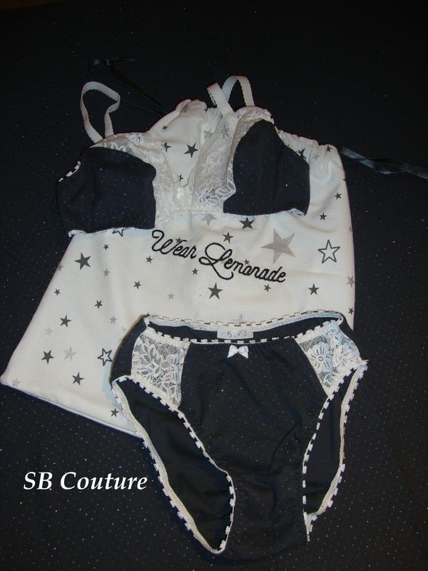 Ensemble lingerie étoiles brillantes 1