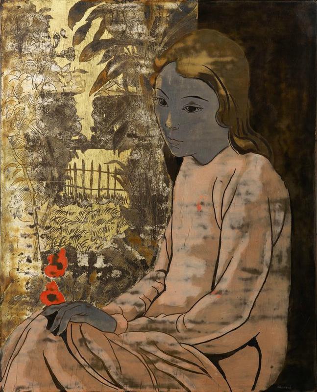 Alix Aymé (1894 – 1989), Young Vietnamese woman in a garden, circa 1940