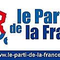 REPAS DE GRIMAUD AVEC LE <b>PARTI</b> DE LA <b>FRANCE</b> ORGANISE PAR DIDIER MONNIN RESPONSABLE DU P-d-F 83