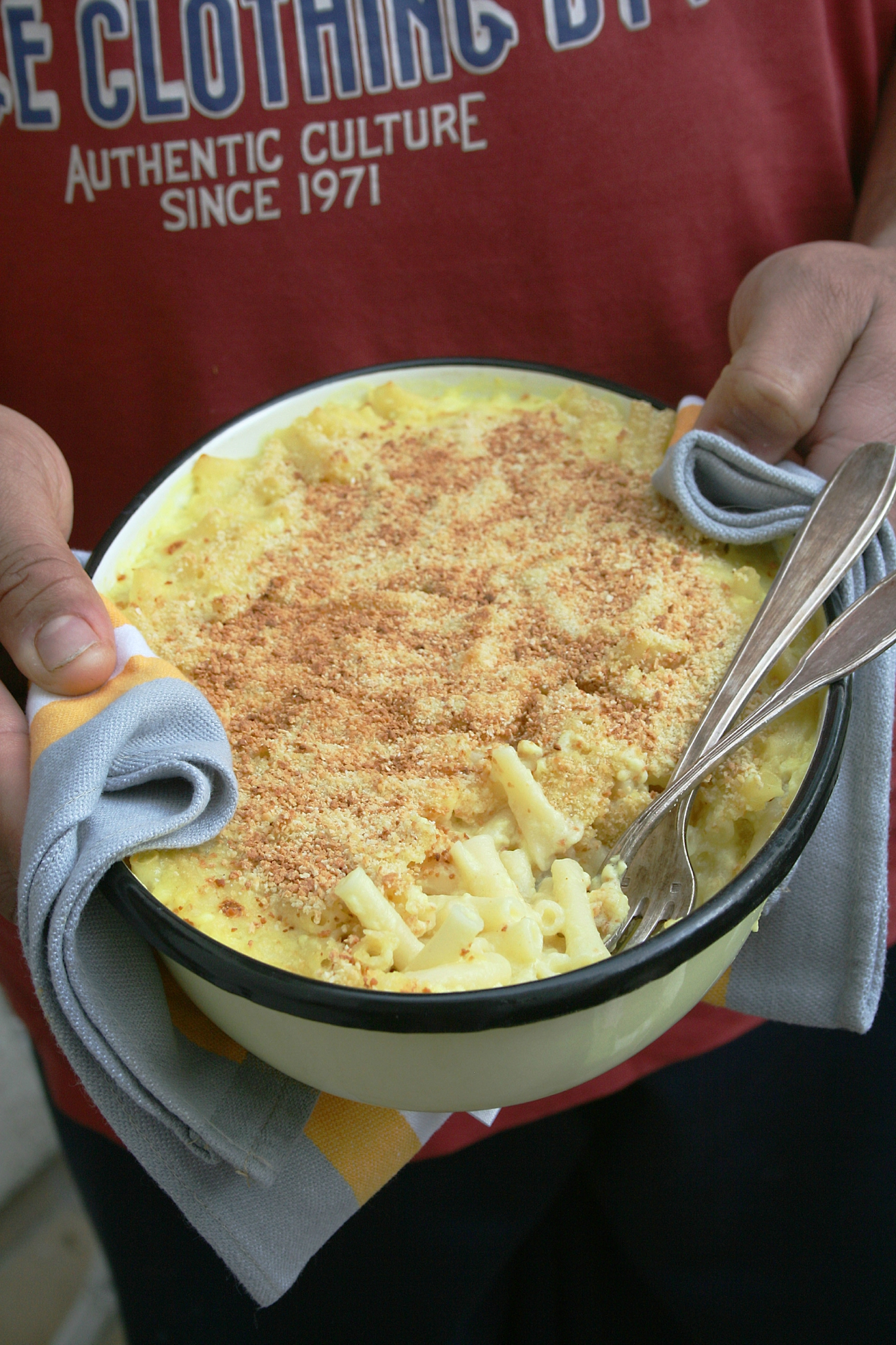 Mac'n'Cheese au lait de coco et colombo