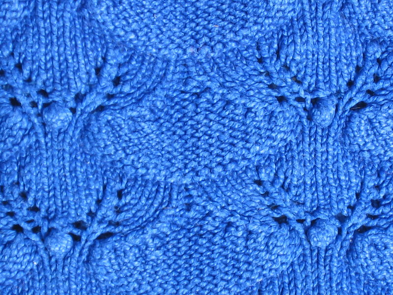 Point de feuille jolis points - Point fantaisie au tricot ...