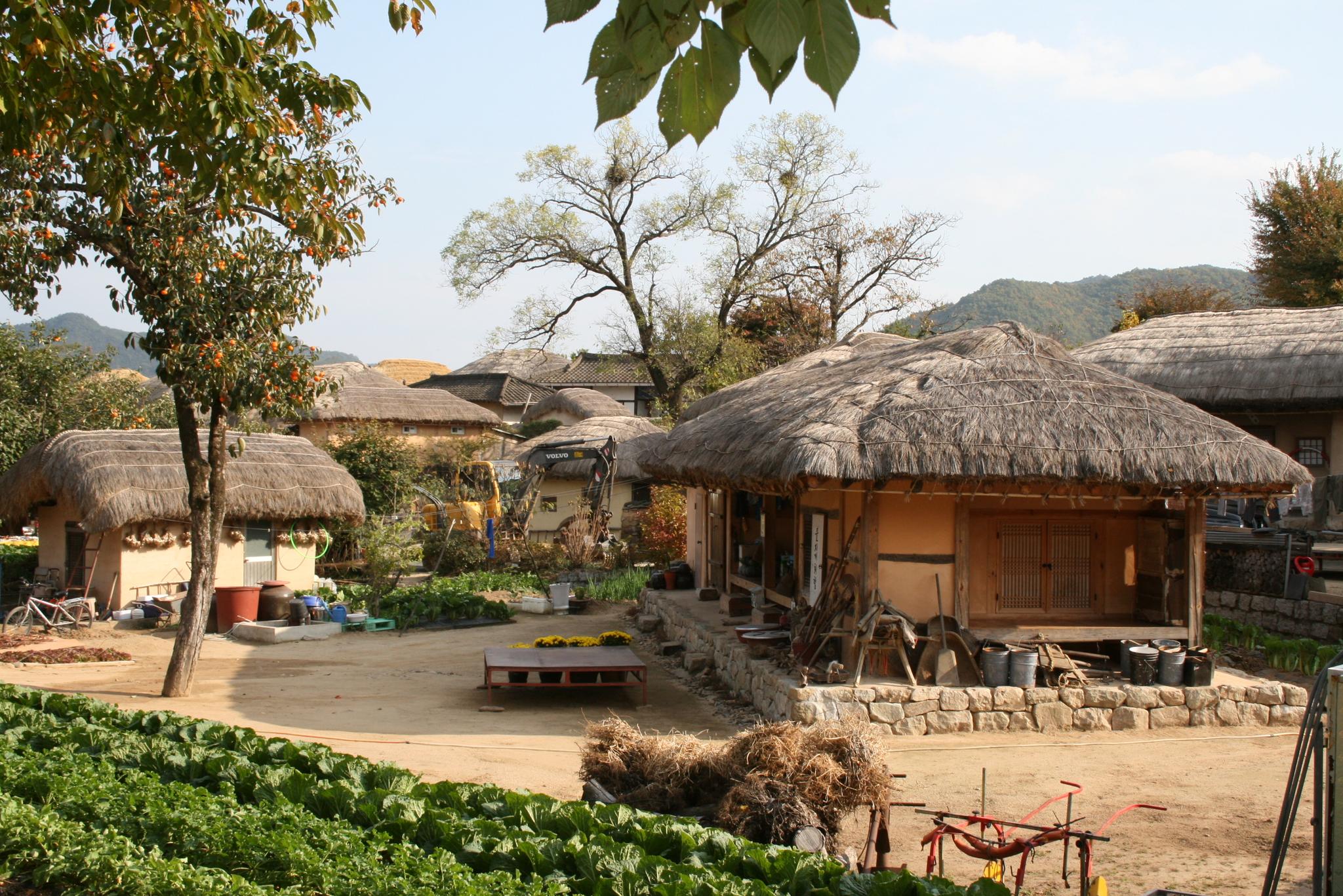 Si le village hanok de jeonju, vu en début de semaine dernière