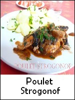 poulet strogonof weight watchers