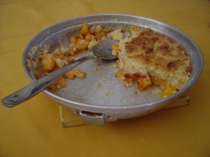 crumble peches abricots