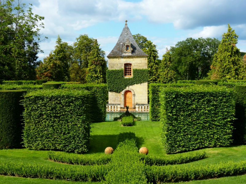 Perigord les jardins du manoir d 39 eyrignac nath et les - Jardin du manoir d eyrignac ...