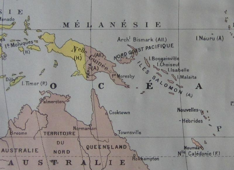 Carte Nouvelle Guinée - Nouvelles Hébrides