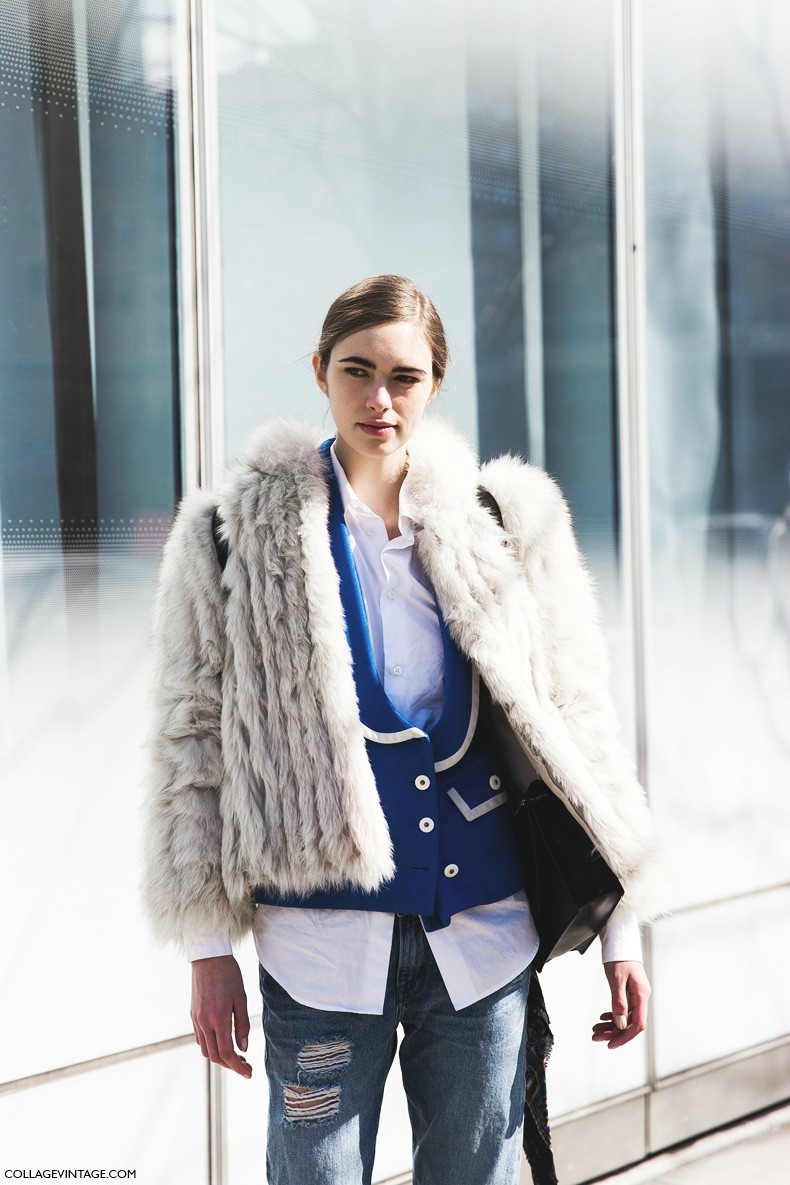 New_York_Fashion_Week-Fall_Winter_2015-Street_Style-NYFW-Fur_Coat-