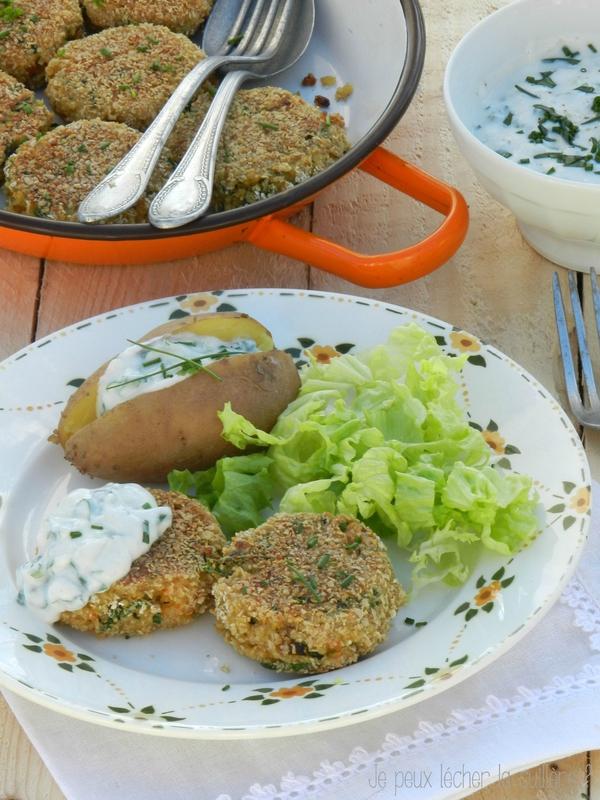 Galettes de quinoa et petits légumes 3