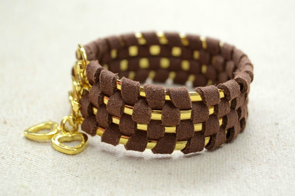 Cool-Ways-to-Make-Stacked-4-in-1-Wide-Metal-Cuff-Bracelets-with-Suede-Cord-step2-6