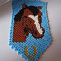 Tapisserie cheval en tissage danois :