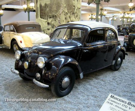 Mercedes 170 H coach decouvrable de 1937 (Cité de l'Automobile Collection Schlumpf à Mulhouse) 01