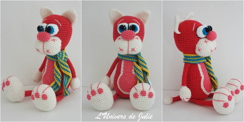 Chat rouge Lilikshatoys Cherry cat L'univers de Julie Amigurumi