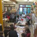 Fête de Noel 2009, espace atelier terre et peinture