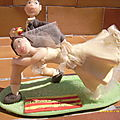 figurine mariage personnalisé;theme rugby