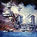 L'attaque de pearl harbor le 7 décembre 1941.