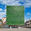 Machado silvetti wraps the facade of asian art building in jade
