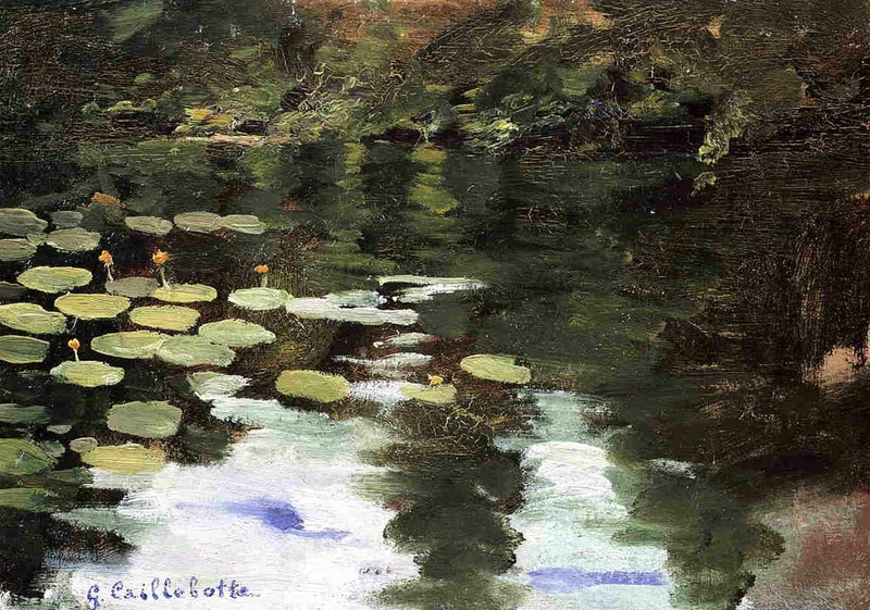 Gustave-Caillebotte-Yerres-on-the-Pond-Water-Lilies