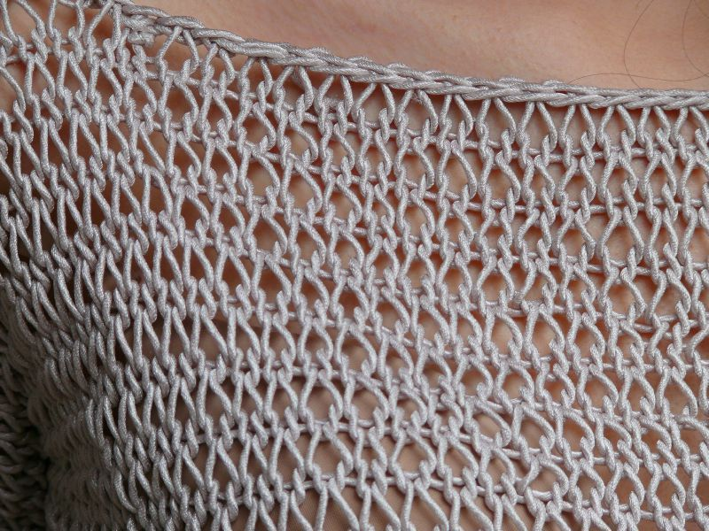point liseuse au tricot