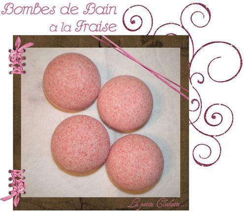 Bombes de bain fraise