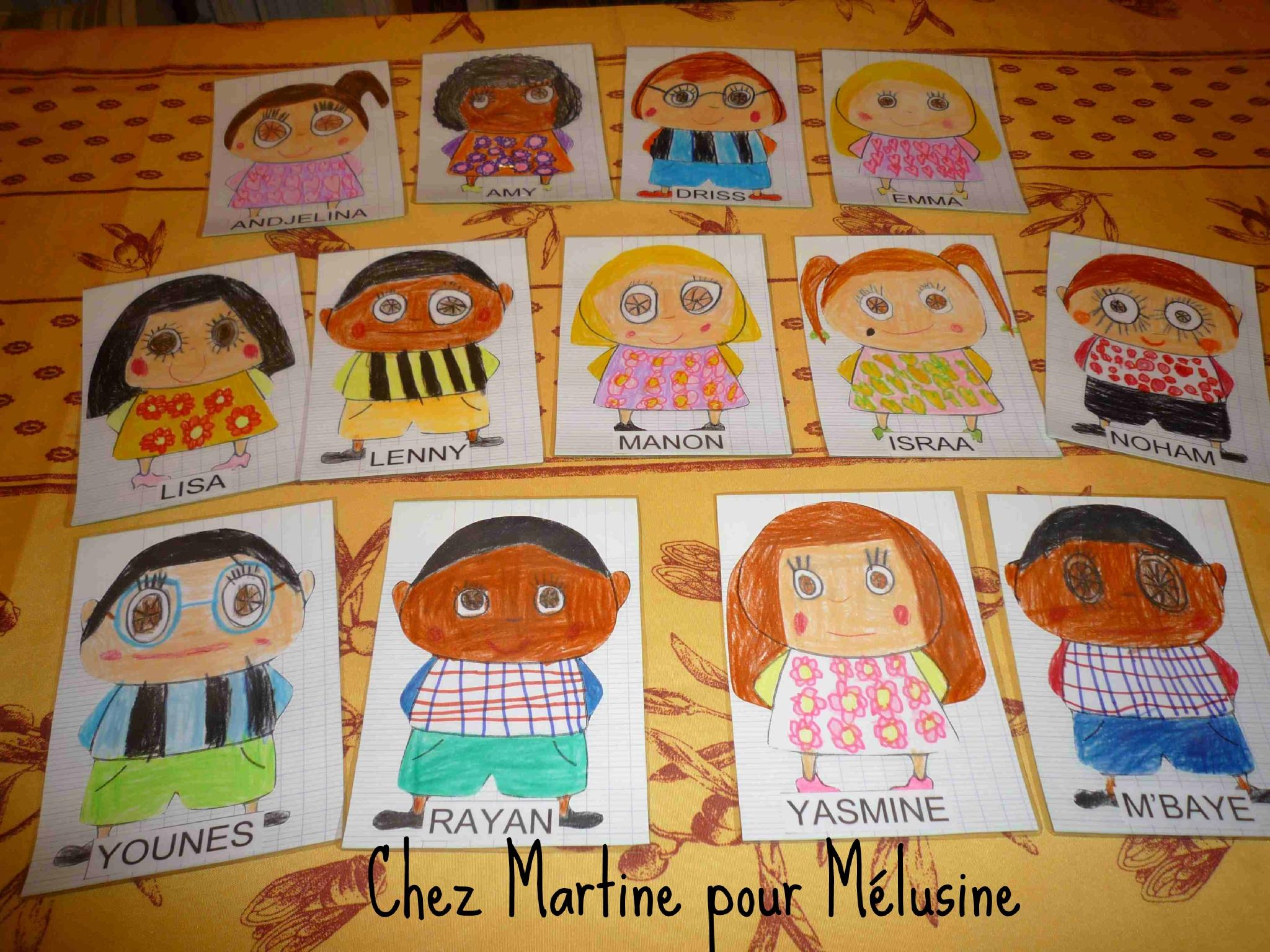 Berühmt Les étiquettes de porte-manteaux de Martine - la classe de Mélusine HW69