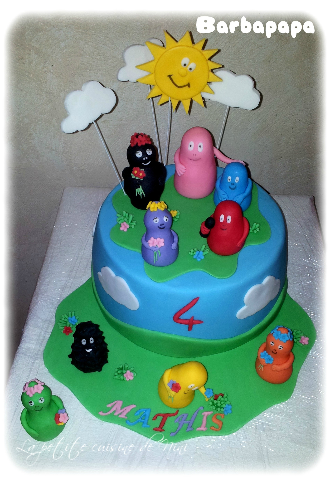 decoration gateau barbapapa
