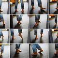 Danse des pieds. autoportrait.
