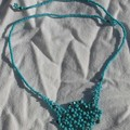 Collier flocons turquoise et turquoise silk.