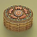 A gilt silver-inlaid box and cover, qing dynasty (1644-1911)