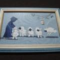 Pascale, série Amish sur lin bleu