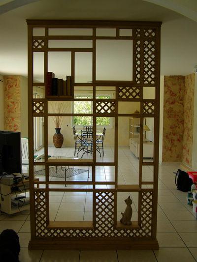 Claustra photo de claustra au fil du bois - Separation entree salon ...