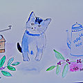 AQUARELLE CHATS