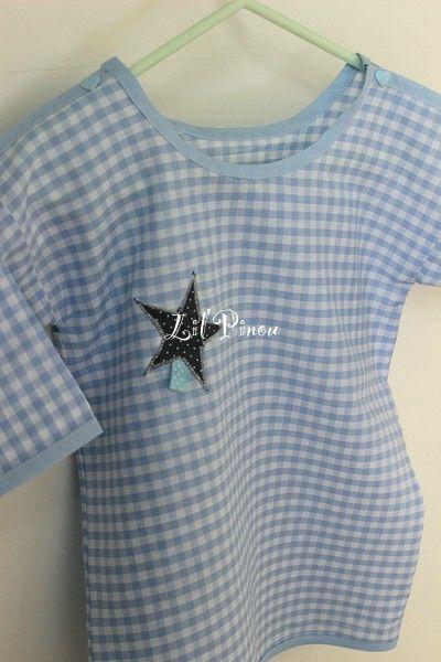 Petit pyjama d'été 2 pièces : la tunique