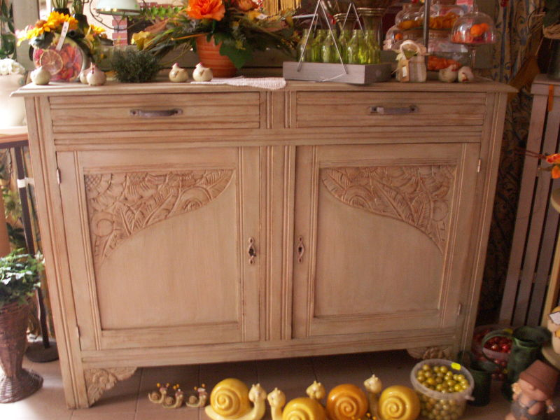 Buffet patines de brigitte photo de mobilier fait main les cr ations de brigitte le for Meuble de jardin seconde main