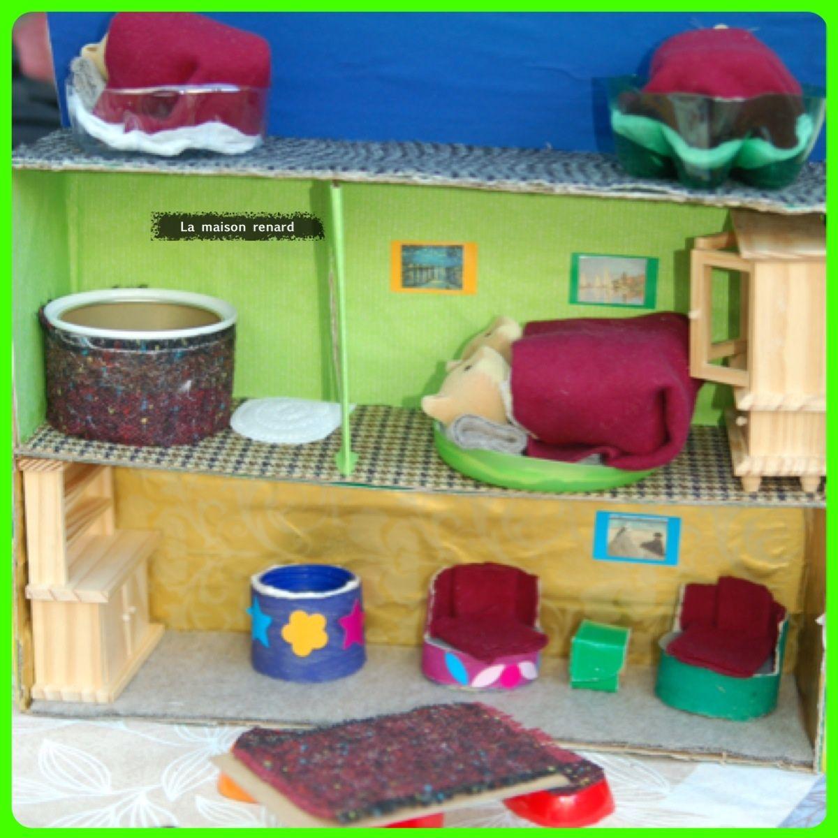 bricolage d 39 t pour les enfants une maison pour la famille renard poup es couture et autre fil. Black Bedroom Furniture Sets. Home Design Ideas
