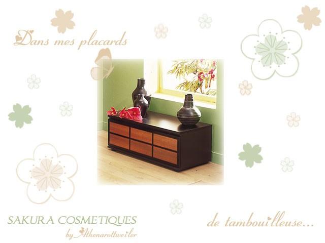 dans mes placards de tambouilleuse sakura cosm tiques. Black Bedroom Furniture Sets. Home Design Ideas