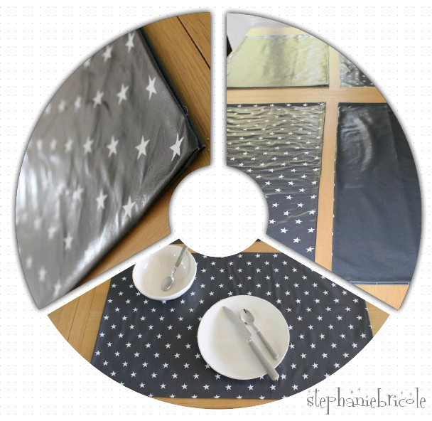 Faire des sets de table xxl avec de la toile cir e for Fabriquer des sets de table