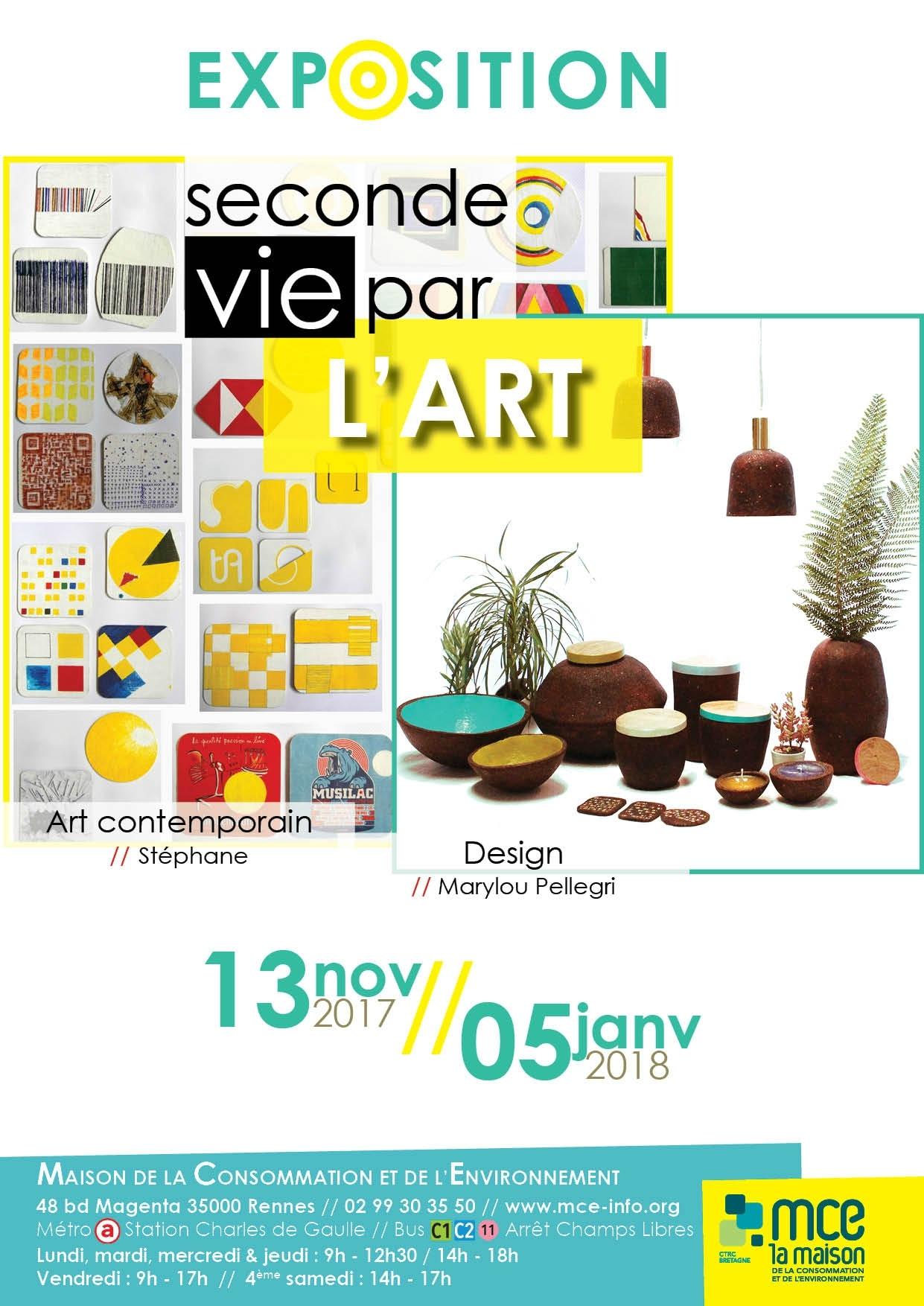 """Exposition """"Seconde vie par l'Art"""" - M.C.E. RENNES"""