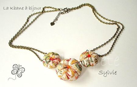 collier 3 potirons tissu orange kaki1