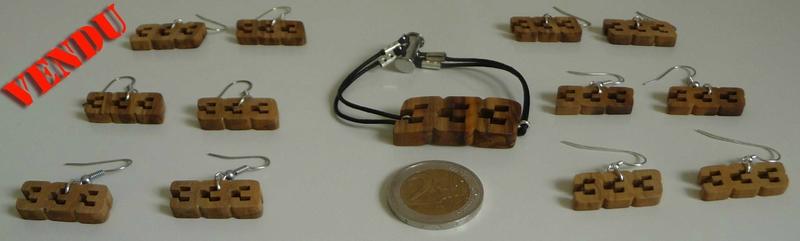 Boucles 333 Bis et bracelet
