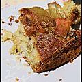 Gâteau rhubarbe, coco, raisins (sans oeufs, sans gluten)