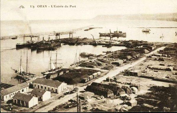 Oran- 136- travail sur les quais