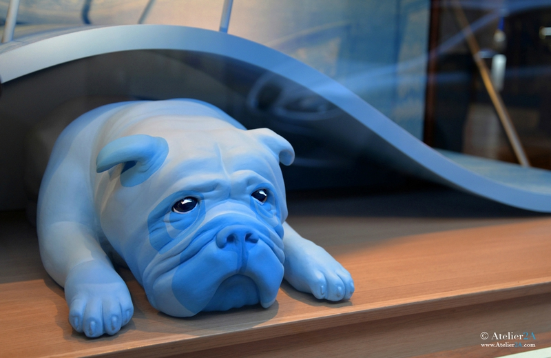 Sculpture bulldog