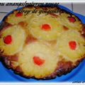 GATEAU ANANAS/POMMES AU POIVRON ROUGE ET SIROP DE GINGEMBRE 