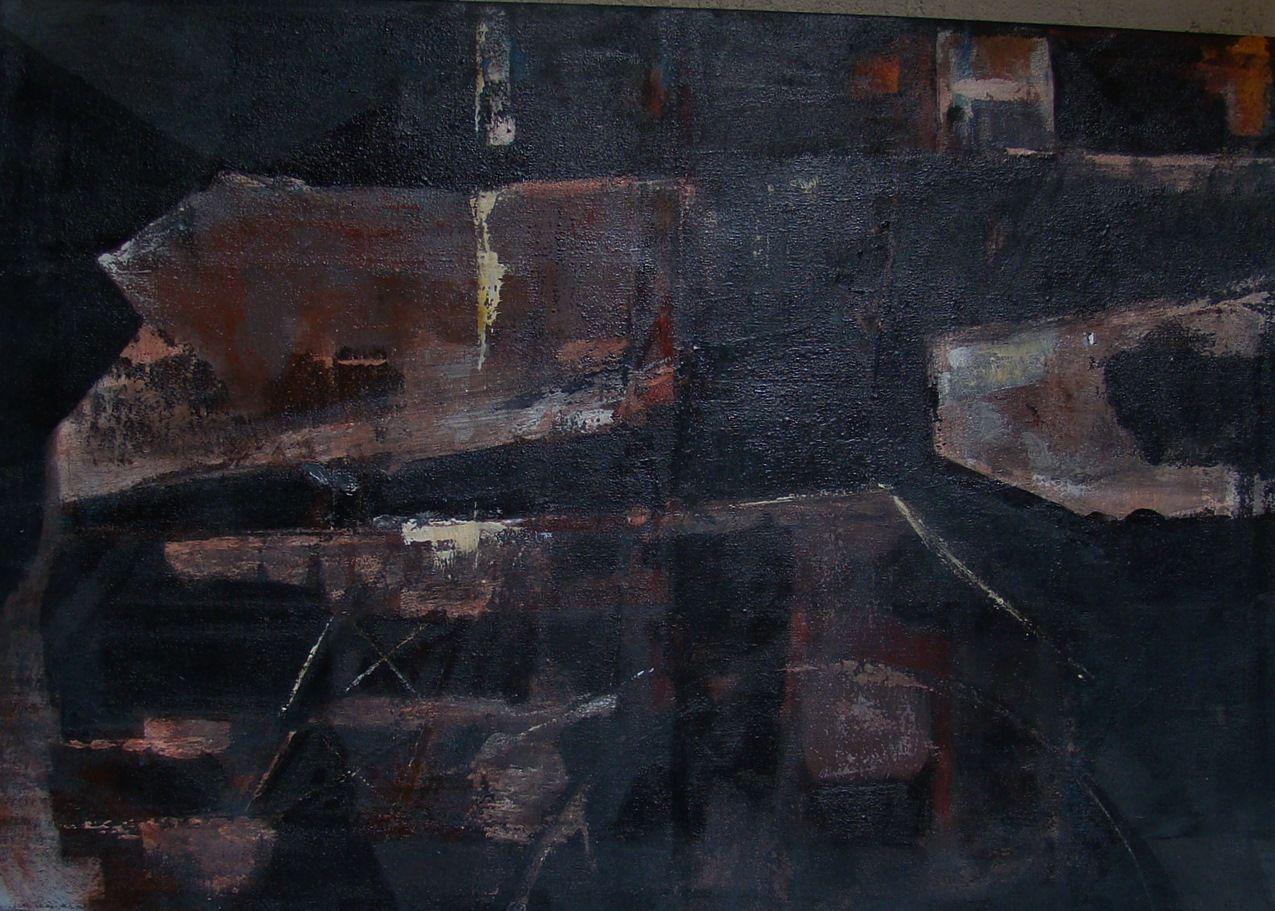 Cercle II, acrylique sur toile 65 x 80cm
