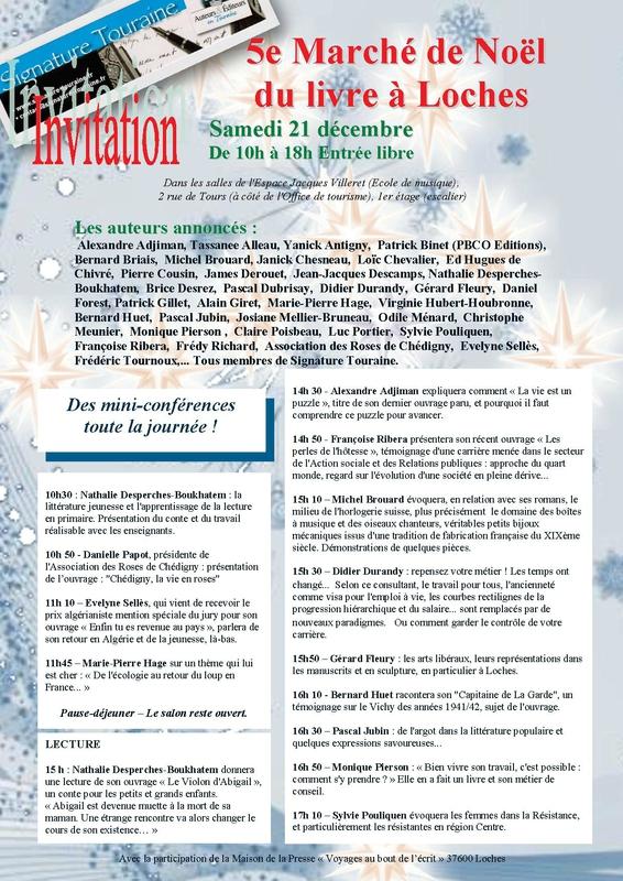 5e Marché de Noël du livre à Loches