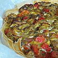 Tarte de légumes et pesto
